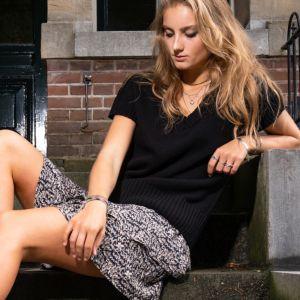 Juul&Belle Thunder print Kiki Skirt Kiki Skirt Zwart_1