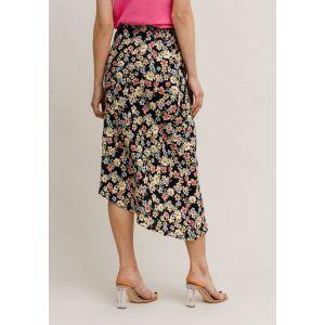 Rut&Circle Zandra Asymmetric skirt 21-01-85 Zwart_1