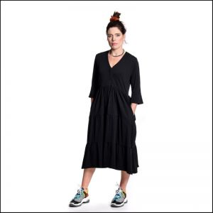 Sneakerdresses Dress long flair 21SS023 Zwart_1