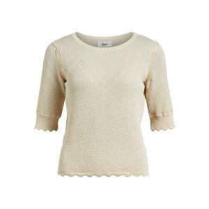 Object OBJEloise knit 2/4 pullover 23035542 Sandshell_1
