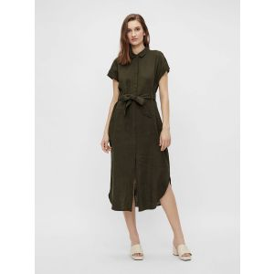 Object OBJHannah SS shirt dress 23034512 groen_1