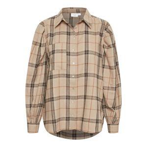 saint tropez  HubbaSZ blouse 30511310 Taupe_1