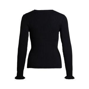 Object OBJWillow LS knit pullover 23036586 Zwart_1