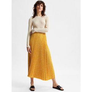 Selected femme SLFAlexis MW Midi skirt 16073829 Arrowwood_1