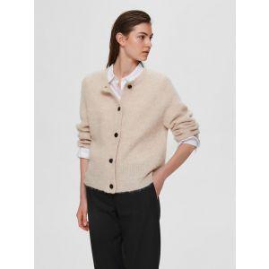 Selected femme SLFLulu LS knit Cardigan 16074481 Birch _1