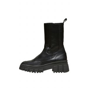 Selected femme SLFNora Leather boot 16082510 Zwart_1