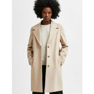 Selected femme SLFNew Sasja Wool Coat 16079292 beige_1