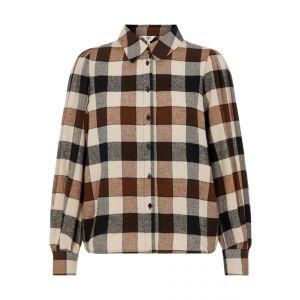 Object OBJJohanna LS Shirt 23037234 Sepia_1