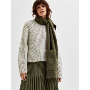 Selected femme SLFCara LS knit O Neck 16081083 Birch _1