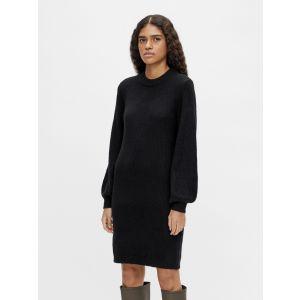 Object OBJEve Monsia LS knit dress 230030170 Zwart_1