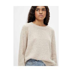 Object OBJNete LS knit pullover 23030242 Silver Grey_1