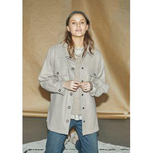 I Say Nadya Shirt Jacket 56795 Dark Sand_1