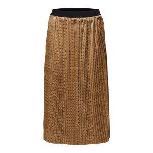 Selected femme SLFMoni MW Midi Pleated skirt 16076648 Tigers Eye_1