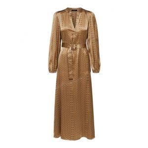Selected femme SLFMoni-Florenta LS Ankle Dress 16076649 Tigers Eye_1