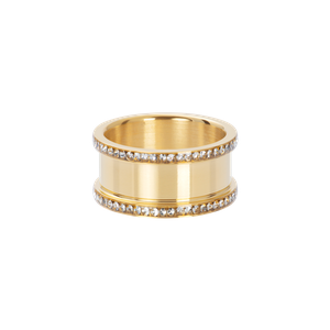 iXXXi Base ring 10 mm with stones R07001-01 Gold 1 Goud