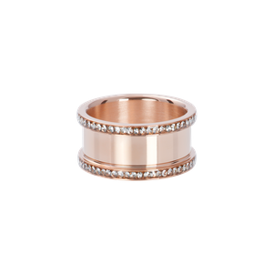 iXXXi Base ring 10 mm with stones R07001-02 Rose 2 Rosé