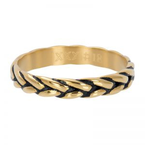 iXXXi Wheat knot R05102-16 Gold 1 Goud