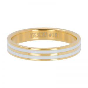 iXXXi Double line white R05301-01 Gold 1 Goud