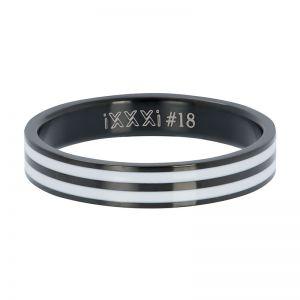 iXXXi Double line white R05301-05 Black 5 Zwart