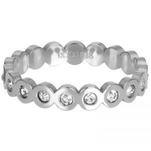 iXXXi Big Circle Stone R05805-03 Zilver 3 Zilver