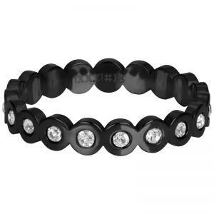 iXXXi Big Circle Stone R05805-05 Black 5 Zwart